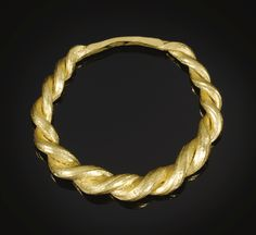 VIKING OR SAXON, 9TH-11TH CENTURY FINGER RING WITH TWO INTERTWINING PLAITED BANDS