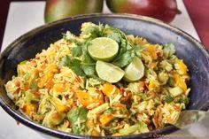 Indischer Reis Salat mit Mango & Limetten Dressing