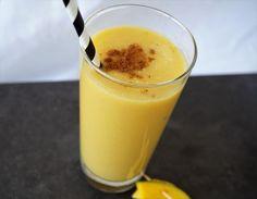 Mango Lassi mit grünen Tee – Very (iss)ima Mango Lassi, Pudding, Drinks, Desserts, Food, Alcohol Free, Healthy, Summer, Food Food
