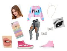 """""""Every things pinkalious"""" by mia1050 ❤ liked on Polyvore featuring Converse, Chicnova Fashion, Vans, Lulu*s, Accessorize, Casetify, Charlotte Tilbury, Marc by Marc Jacobs, women's clothing and women"""