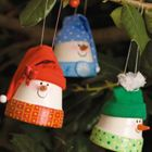 Claypot Snowmen Ornaments - I don't want to do them as ornaments but rather as outdoor decor for the steps
