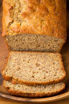"""Skinny"" Banana Bread — like Starbucks banana bread but lightened up, via @cookingclassy"