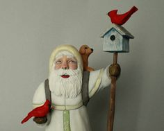 Reserved for Theresa Santa Claus Woodcarving by TurtleMtnArtistry