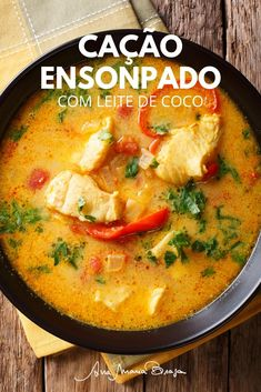 Portuguese Recipes, Coco, Thai Red Curry, Carne, Seafood, Food And Drink, Low Carb, Fish, Ethnic Recipes
