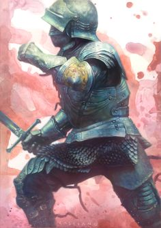 Create a realistic fantasy knight Medieval Knight, Medieval Armor, Medieval Fantasy, Fantasy Armor, Dark Fantasy, Armor Concept, Concept Art, Character Concept, Character Art