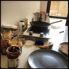 The calm before the storm, #pancake Fridays at the #hootsuite office in #Bucharest! #hootsuitelife