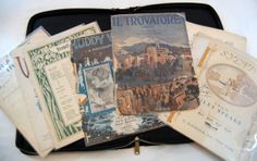 Vintage Sheet Music Vintage Leather Binder by TheEclecticInterior, $35.00 #EtsyAA