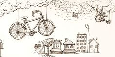 bycicle, buildings