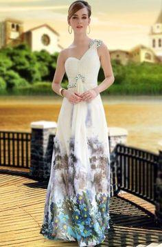 Modelos de Vestidos de Festa Estampados Dica:Mas lembre-se que vestidos para festa exigem tecidos nobres para a sua confecção, como seda, mousseline, organza ou tafetá.