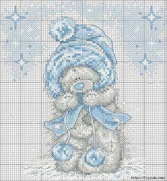 ♥ cross stitch pattern - Tatty Teddy