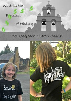 FREE young writer's summer camp in San Antonio for kids going into 4, 5 and 6 grade at Mission San Juan Capistrano!