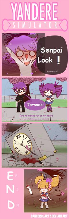 Yandere Comic - Tornado Mode by DancerQuartz on DeviantArt
