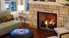 Gas Fireplaces 101 - Bob Vila Soooo Happy-we are totally adding a fireplace before next winter ;-)