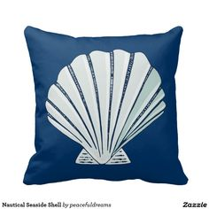 Nautical Seaside Shell Pillow