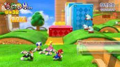 Super Mario 3D World for #WiiU: Release this holiday, the new full Mario 3D adventure for 1 to 4 players on Wii U!