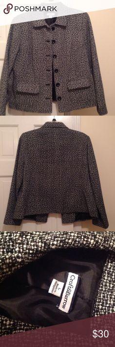 Croft & Barrow blazer jacket Croft & Barrow blazer jacket for dress pants, skirts or jeans!  Size large. Back/white.  Black lining. Croft & Barrow Jackets & Coats Blazers