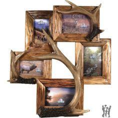 Deer Antler Crafts and Ideas | Deer Antler Decorating Ideas | NEW 5 PHOTO DEER ANTLER FRAME - Gifts ...