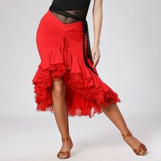 New Adult Women's Latin Cha Cha Dance Skirts Dress Rumba Samba Dancewar Ballroom #Unbranded