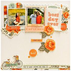 Best+day+ever - Kaisercraft - Boho Dreams Collection Scrapbooking Layouts, Scrapbook Pages, Layout Inspiration, Best Day Ever, Bffs, Good Day, In This Moment, Frame, Happy