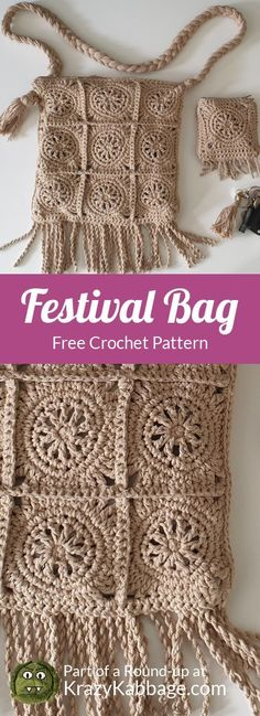 Boho Free Crochet Patterns – Krazy Kabbage Knitting ProjectsCrochet For BeginnersCrochet PatronesCrochet Stitches Crochet Handbags, Crochet Purses, Crochet Bags, Boho Crochet Patterns, Knitting Patterns, Bag Patterns, Crochet Market Bag, Bag Pattern Free, Crochet Accessories