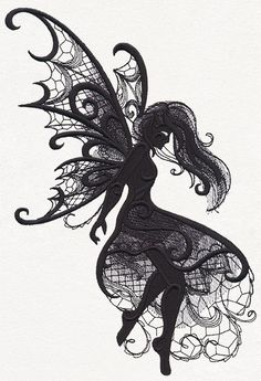 Dark Creatures - Fairy | Urban Threads: Unique and Awesome Embroidery Designs
