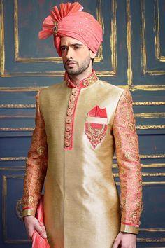 Traditional Groom Indo Western Sherwani #designer #exclusive #trendy #sherwani #wedding #collection #embroidered