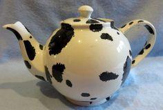 "Paul Cardew ""DALMATIAN"" Betty style tea pot teapot Fully usable"