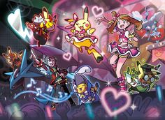 Pokemon Omega Ruby and Alpha Sapphire - Pokemon Contest Artwork