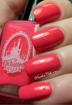 Enchanted Polish Shrimp Cocktail - Swatches and Review | Pointless Cafe