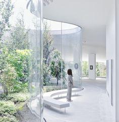 Futuristic Architecture, School Architecture, Interior Architecture, Interior Design, Office Interiors, Loft Interiors, Atrium Design, Round Building, Open Ceiling