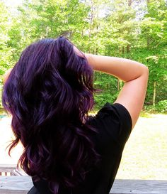 Super awesome article for dying dark hair purple WITHOUT bleach! Dark Purple Hair, Dyed Hair Purple, Hair Color Purple, Hair Color And Cut, Dye My Hair, Dark Hair, Hair Colors, Violet Hair, Lilac Hair