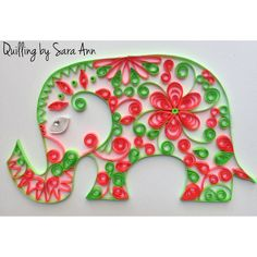 Quilling by Sara Ann - paper quilling elephant