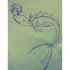 Literature of Comics Thoughts, Ximena Anleu: Manga vs. Literature of Comics Thoughts, Ximena Anleu: Manga vs. Art Drawings Sketches, Cartoon Drawings, Cool Drawings, Fantasy Drawings, Mermaid Drawings, Mermaid Art, Mermaid Drawing Tutorial, Mermaid Sketch, Male Mermaid