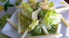 Caesar Salad with White Asparagus