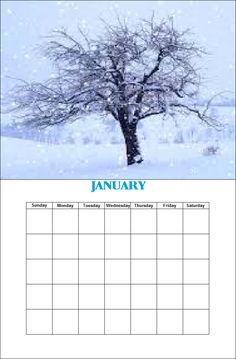 January Season Calendar, Monday Tuesday Wednesday, January, Seasons, Seasons Of The Year