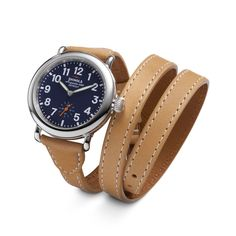 4f8b8f14e Shinola women's watch with leather wrap around band. Shinola Runwell,  Leather Watch Bands,