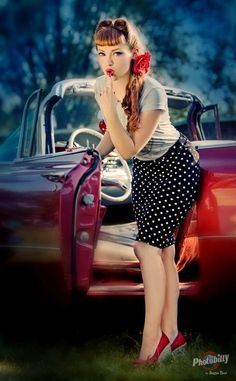Polka Dots and Victory Rolls #pinup #vintage #victoryroll