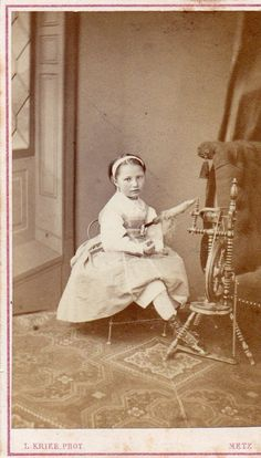 Carte DE Visite CDV Albumine Albumen L Krier Metz Rouet Enfant Mode | eBay