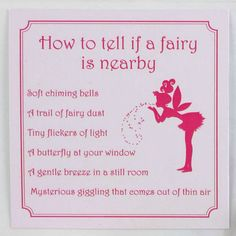 How to tell if a fairy is nearby  sc 1 st  Pinterest & Fairies Dance in the Moonlight Original Fairy Poem DIY Printable ...