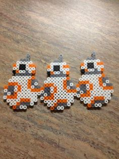 I made some adorable BB-8's in perler beads.