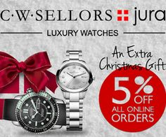 #JuraWatches Coupon –   Get FREE Gift With Every Order on UK's Branded #LuxuryWatches  http://www.ukcouponsvouchers.com/coupons/jura-watches-coupon-get-free-gift-with-every-order/