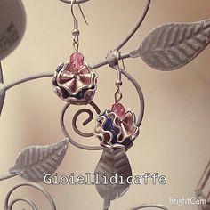 Orecchini Bicolor rosa e azzurro Nespresso
