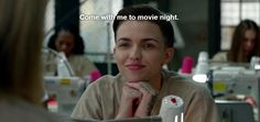 "Orange is the New Black, III, 1. #RubyRose #OITNB ""Come with me to movie night"" Ruby Rose as Stella"