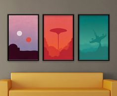 Star Wars Trilogy Poster Set - Created by Dylan West