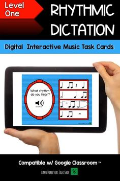 Looking for digital, interactive music games that are fun and engaging? Check out our Music BOOM cards! This set is a level 1 rhythmic dictation game, perfect for music distance learning