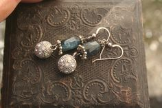 gemstone earrings kyanite earrings kyanite jewellery unique Art Deco Fashion, Fashion Jewelry, Rosary Necklace, Royal Blue Color, Blue Gemstones, Christmas Jewelry, Gemstone Earrings, Ireland, Necklaces