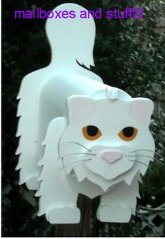 Offering an adorable Novelty Persian Cat Mailbox that can be custom painted to look like your cat! Outdoor Crafts, Maine Coon, Custom Paint, Mailbox, Persian, Cat Lovers, Craft Ideas, Christmas Ornaments, Holiday Decor