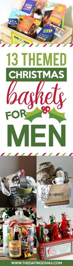 Christmas Gift Baskets For Men So Many Good Ideas Themed Gifts Perfect A Boyfriend Or Present