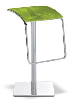 """""""Arod Swivel Bar Stool Two""""  A modern design and the choice of materials make it suitable both for domestic and public environments. Glamorous and resistant, it has a steel tube frame and chromed ABS seat or transparent seat.  Please contact us for pricing (718)363-3097."""