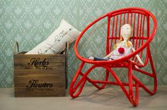 Rag dolls. minina & red chair. Rocking Chair, Home And Garden, Girls, Room, Home Decor, Bedroom, Homemade Home Decor, Rocking Chairs, Daughters